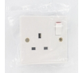 Description of Single Switched Wall Socket: 1 Gang: 13A