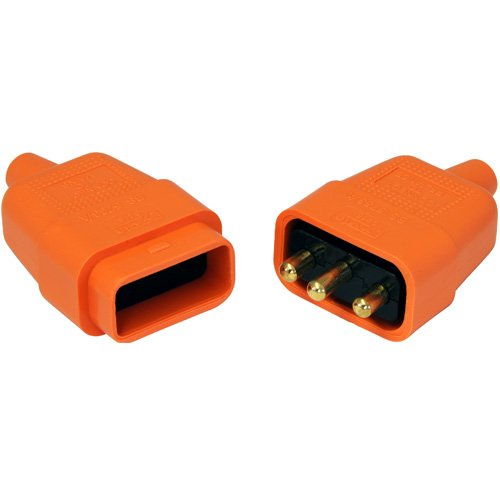 Description of 10 Amp 3 Pin Orange Connector