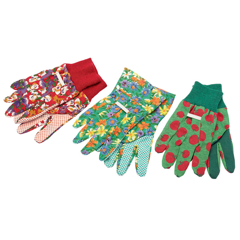Description of Gardening Gloves 3 Pair Small/Medium