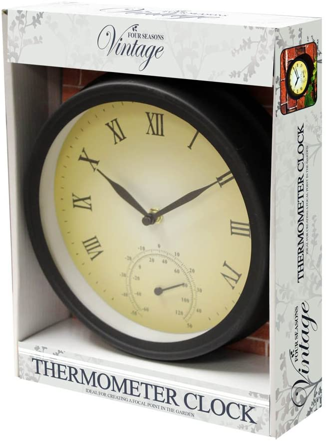 Description of GARDEN CLOCK AND THERMOMETER