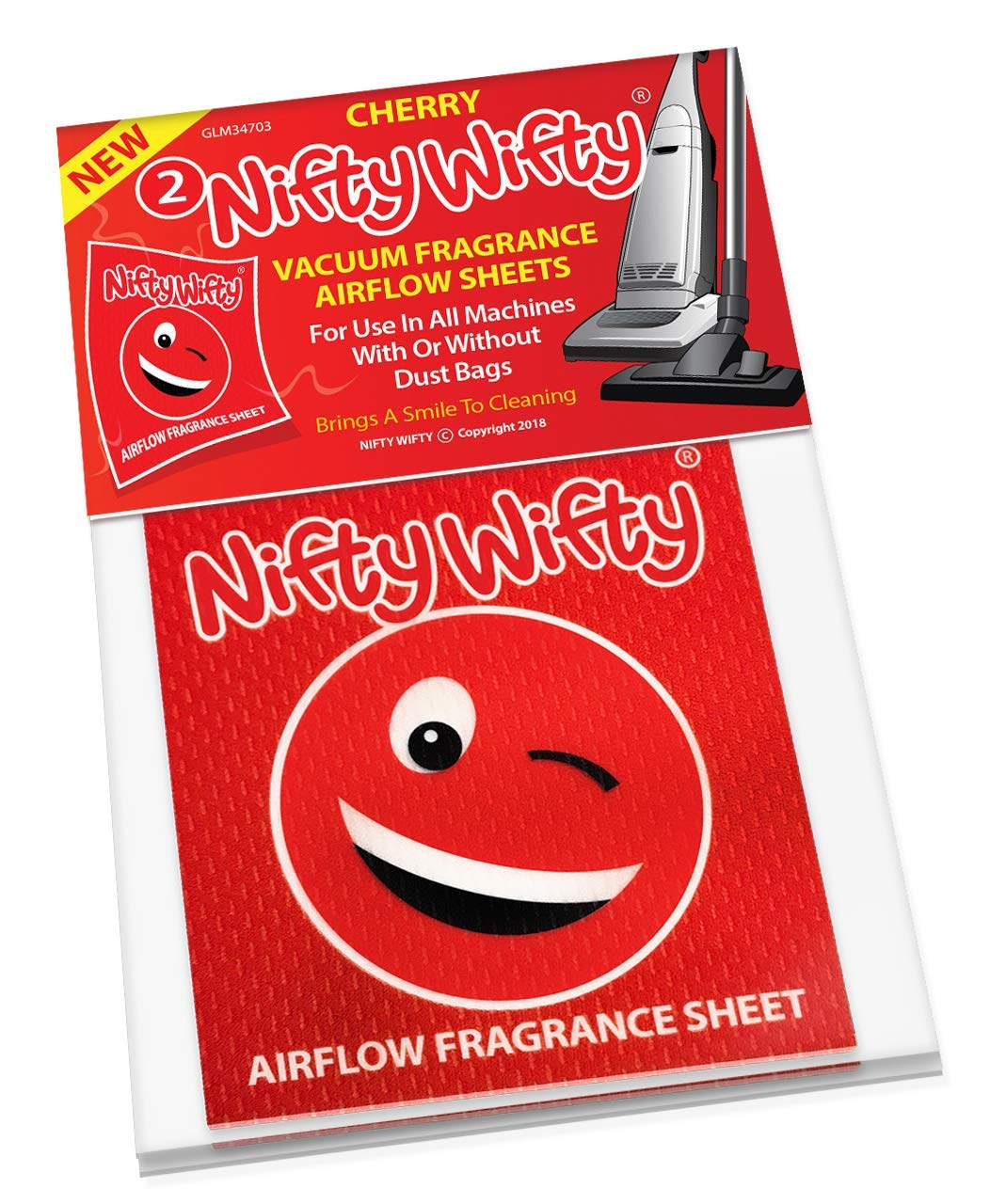 Description of Nifty Wifty Cherry Vacuum Airflow Freshener sheet
